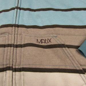 Matix Jackets & Coats - Matix Insulated Full Zip Striped Hoodie Jacket L